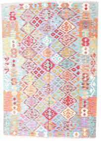Kilim Afgán Old Style Szőnyeg 127X183 Keleti Kézi Szövésű Világos Rózsaszín/Türkiz Kék (Gyapjú, Afganisztán)