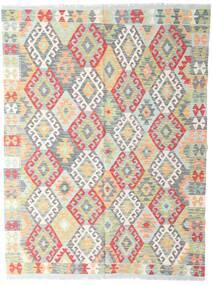 Kilim Afgán Old Style Szőnyeg 142X190 Keleti Kézi Szövésű Világosszürke/Bézs (Gyapjú, Afganisztán)