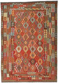 Kilim Afgán Old Style Szőnyeg 246X349 Keleti Kézi Szövésű Rozsdaszín/Sötétszürke (Gyapjú, Afganisztán)