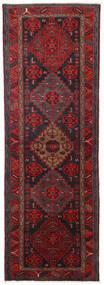 Hamadán Szőnyeg 104X309 Keleti Csomózású Sötétpiros/Fekete (Gyapjú, Perzsia/Irán)