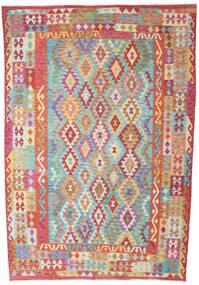 Kilim Afgán Old Style Szőnyeg 200X293 Keleti Kézi Szövésű Rozsdaszín/Világoszöld (Gyapjú, Afganisztán)