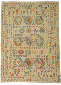 Kilim Afgán Old Style Szőnyeg 255X348 Keleti Kézi Szövésű Világoszöld/Sötét Bézs Nagy (Gyapjú, Afganisztán)