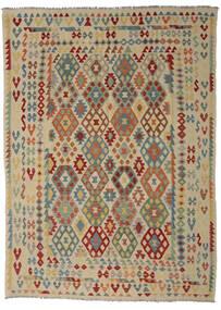 Kilim Afgán Old Style Szőnyeg 255X352 Keleti Kézi Szövésű Olívazöld/Sötétbarna Nagy (Gyapjú, Afganisztán)
