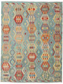 Kilim Afgán Old Style Szőnyeg 259X337 Keleti Kézi Szövésű Sötét Bézs/Világoszöld Nagy (Gyapjú, Afganisztán)