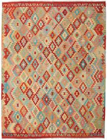 Kilim Afgán Old Style Szőnyeg 263X337 Keleti Kézi Szövésű Sötét Bézs/Világoszöld Nagy (Gyapjú, Afganisztán)