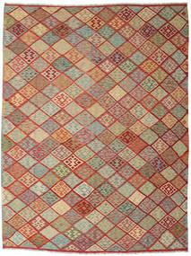 Kilim Afgán Old Style Szőnyeg 263X347 Keleti Kézi Szövésű Sötétpiros/Világosszürke Nagy (Gyapjú, Afganisztán)