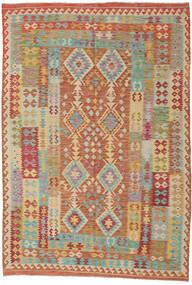 Kilim Afgán Old Style Szőnyeg 208X306 Keleti Kézi Szövésű Világosbarna/Sötét Bézs (Gyapjú, Afganisztán)
