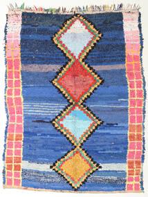 Berber Moroccan - Boucherouite Szőnyeg 172X220 Modern Csomózású Kék/Sötétkék ( Marokkó)