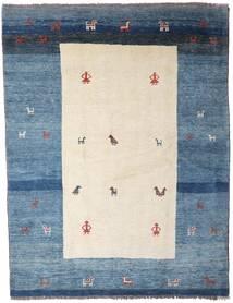 Gabbeh Rustic Szőnyeg 194X252 Modern Csomózású Bézs/Kék (Gyapjú, Perzsia/Irán)