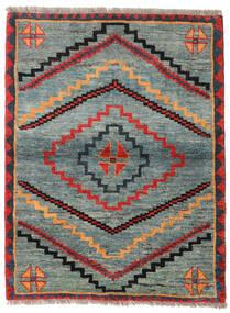 Gabbeh Rustic Szőnyeg 112X148 Modern Csomózású Világosszürke/Zöld (Gyapjú, Perzsia/Irán)