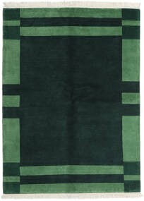 Gabbeh Indiai Szőnyeg 170X230 Modern Csomózású Sötét Turquoise/Sötétzöld (Gyapjú, India)