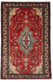 Hamadán Szőnyeg 79X121 Keleti Csomózású Sötétpiros/Sötétbarna (Gyapjú, Perzsia/Irán)