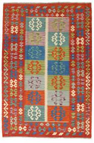 Kilim Afgán Old Style Szőnyeg 127X190 Keleti Kézi Szövésű Rozsdaszín/Sötétpiros (Gyapjú, Afganisztán)