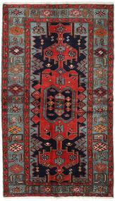 Hamadán Szőnyeg 132X227 Keleti Csomózású Sötétkék/Sötétpiros (Gyapjú, Perzsia/Irán)