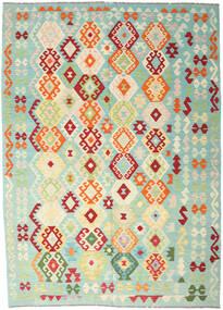 Kilim Afgán Old Style Szőnyeg 206X289 Keleti Kézi Szövésű Pasztellzöld/Bézs (Gyapjú, Afganisztán)