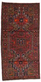 Hamadán Szőnyeg 100X199 Keleti Csomózású Sötétpiros/Sötétbarna (Gyapjú, Perzsia/Irán)