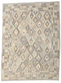 Kilim Afgán Old Style Szőnyeg 259X346 Keleti Kézi Szövésű Világosszürke/Bézs Nagy (Gyapjú, Afganisztán)