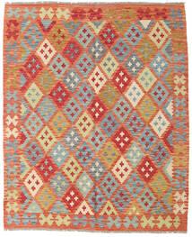 Kilim Afgán Old Style Szőnyeg 152X185 Keleti Kézi Szövésű Piros/Világoszöld (Gyapjú, Afganisztán)