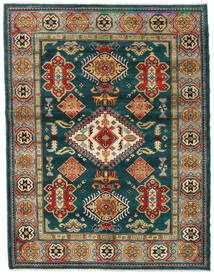 Kazak Szőnyeg 155X203 Keleti Csomózású Sötétzöld/Sötétkék (Gyapjú, Afganisztán)