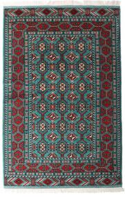 Turkaman Szőnyeg 140X208 Keleti Csomózású Fekete/Sötétzöld (Gyapjú, Perzsia/Irán)