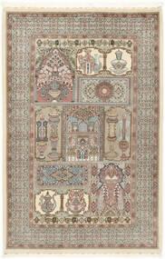 Ilam Sherkat Farsh Selyem Szőnyeg 148X223 Keleti Csomózású Világosszürke/Bézs (Gyapjú/Selyem, Perzsia/Irán)