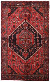 Hamadán Szőnyeg 138X225 Keleti Csomózású Sötétpiros/Fekete (Gyapjú, Perzsia/Irán)