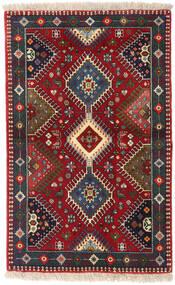 Yalameh Szőnyeg 84X133 Keleti Csomózású Sötétpiros/Sötétbarna (Gyapjú, Perzsia/Irán)
