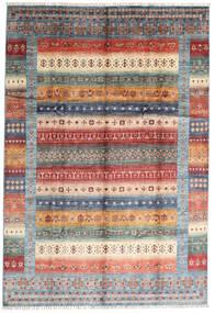 Shabargan Szőnyeg 207X305 Modern Csomózású Sötétbarna/Világosszürke (Gyapjú, Afganisztán)