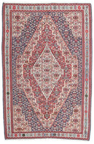 Kilim Senneh Szőnyeg 148X225 Keleti Kézi Szövésű Sötétszürke/Világosszürke (Gyapjú, Perzsia/Irán)