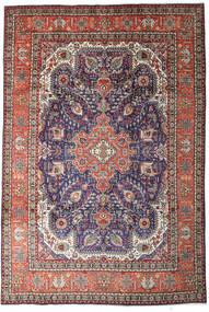 Tabriz Szőnyeg 200X300 Keleti Csomózású Világosszürke/Sötétlila (Gyapjú, Perzsia/Irán)