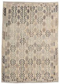 Kilim Afgán Old Style Szőnyeg 205X293 Keleti Kézi Szövésű Világosszürke/Bézs (Gyapjú, Afganisztán)