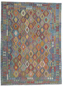 Kilim Afgán Old Style Szőnyeg 256X351 Keleti Kézi Szövésű Világosszürke/Világosbarna Nagy (Gyapjú, Afganisztán)