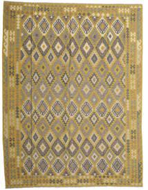 Kilim Afgán Old Style Szőnyeg 298X389 Keleti Kézi Szövésű Olívazöld/Sötétszürke Nagy (Gyapjú, Afganisztán)