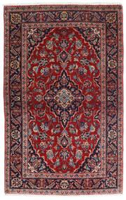 Kashan Szőnyeg 98X158 Keleti Csomózású Sötétpiros/Sötétkék (Gyapjú, Perzsia/Irán)