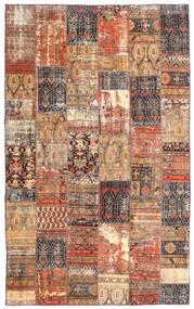 Patchwork - Persien/Iran Szőnyeg 191X312 Modern Csomózású Sötétpiros/Barna (Gyapjú, Perzsia/Irán)