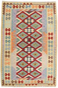Kilim Afgán Old Style Szőnyeg 125X189 Keleti Kézi Szövésű Világoszöld/Sötétpiros (Gyapjú, Afganisztán)