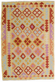 Kilim Afgán Old Style Szőnyeg 125X183 Keleti Kézi Szövésű Világosbarna/Sötét Bézs (Gyapjú, Afganisztán)