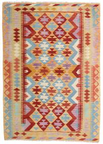 Kilim Afgán Old Style Szőnyeg 129X181 Keleti Kézi Szövésű Sötét Bézs/Sötétpiros (Gyapjú, Afganisztán)