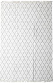 Bamboo Selyem Kilim Szőnyeg 200X300 Modern Kézi Szövésű Bézs/Krém/Világosszürke (Gyapjú/Bamboo Selyem, India)