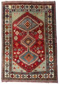 Qashqai Szőnyeg 136X197 Keleti Csomózású Sötétpiros/Sötétszürke (Gyapjú, Perzsia/Irán)