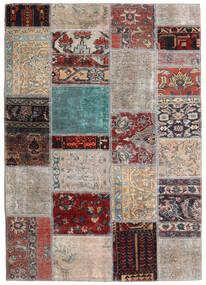 Patchwork - Persien/Iran Szőnyeg 141X198 Modern Csomózású Világosszürke/Sötétbarna (Gyapjú, Perzsia/Irán)