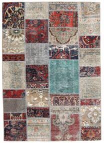Patchwork - Persien/Iran Szőnyeg 141X202 Modern Csomózású Világosszürke/Sötétszürke (Gyapjú, Perzsia/Irán)