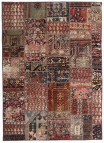 Patchwork - Persien/Iran Szőnyeg 144X201 Modern Csomózású Sötétpiros/Sötétbarna/Világosbarna (Gyapjú, Perzsia/Irán)
