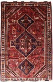 Shiraz Szőnyeg 166X246 Keleti Csomózású Sötétpiros/Rozsdaszín (Gyapjú, Perzsia/Irán)