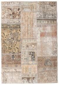 Patchwork - Persien/Iran Szőnyeg 108X156 Modern Csomózású Világosszürke/Bézs/Krém (Gyapjú, Perzsia/Irán)