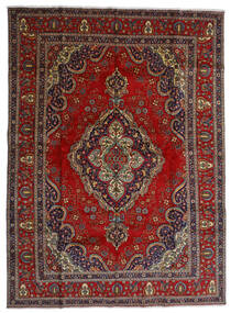 Tabriz Szőnyeg 300X408 Keleti Csomózású Sötétpiros/Sötétszürke Nagy (Gyapjú, Perzsia/Irán)