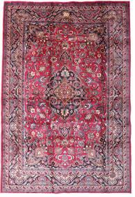 Mashad Szőnyeg 198X290 Keleti Csomózású Sötétlila/Világos Rózsaszín (Gyapjú, Perzsia/Irán)