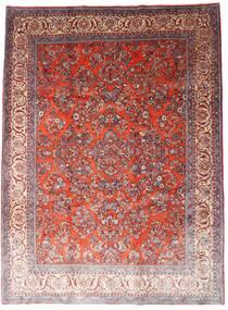 Sarough Szőnyeg 260X348 Keleti Csomózású Sötétpiros/Világoslila Nagy (Gyapjú, Perzsia/Irán)