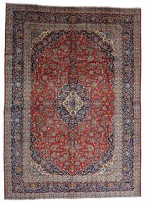 Kashan Szőnyeg 287X403 Keleti Csomózású Sötétpiros/Sötétbarna Nagy (Gyapjú, Perzsia/Irán)