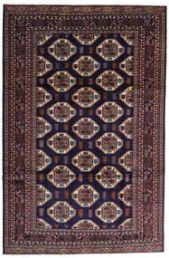 Turkaman Szőnyeg 247X378 Keleti Csomózású Sötétlila/Sötétbarna (Gyapjú, Perzsia/Irán)